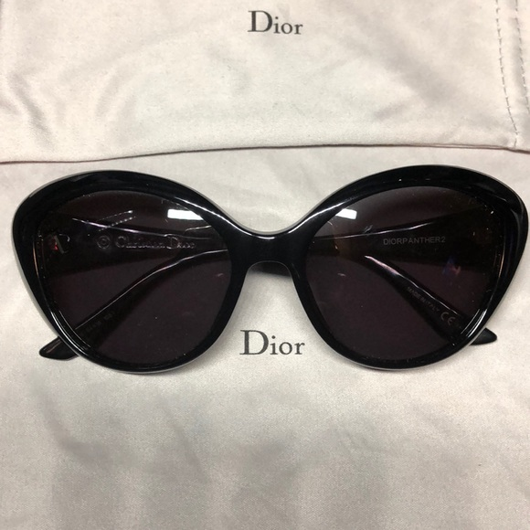 05e3cb1fb32fa Dior Accessories - Dior Panther2 Black Cat Eye Sunglasses